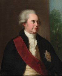 Portrait of George, 1st Earl Macartney, half length, wearing the Order of the Bath