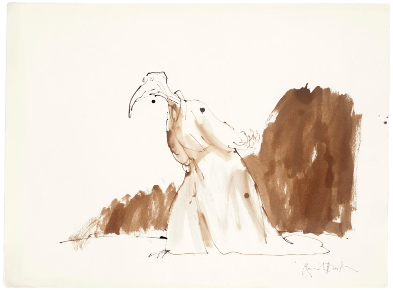 Quentin Blake (b.1932), Birds as People #1. Pen, ink, watercolour, watercolour paper, signed. 570 x 765 mm. Estimate £3,000-5,000. Offered in  Quentin Blake Not in Books, 10-17 December 2019, Online