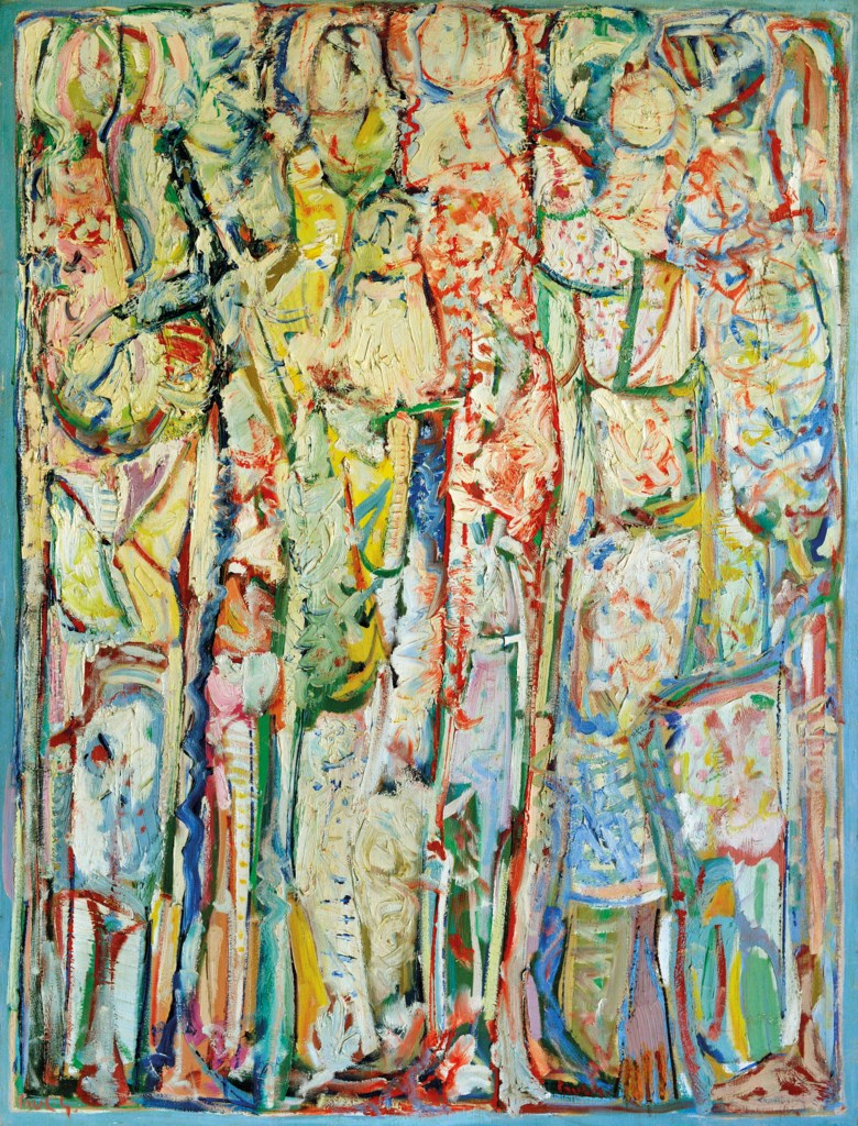 Paul Guiragossian (Lebanese, 1926-1993), Nay, painted circa 1986. 51⅛ x 39⅜  in (130 x 100 cm). Estimate $80,000-120,000. Offered in Middle Eastern Modern & Contemporary Art on 23 March 2019 at Christie's in Dubai