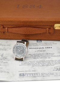 SVEND ANDERSEN. A RARE 18K WHITE GOLD AUTOMATIC LIMITED EDITION WORLD TIME WRISTWATCH WITH CERTIFICATE AND BOX