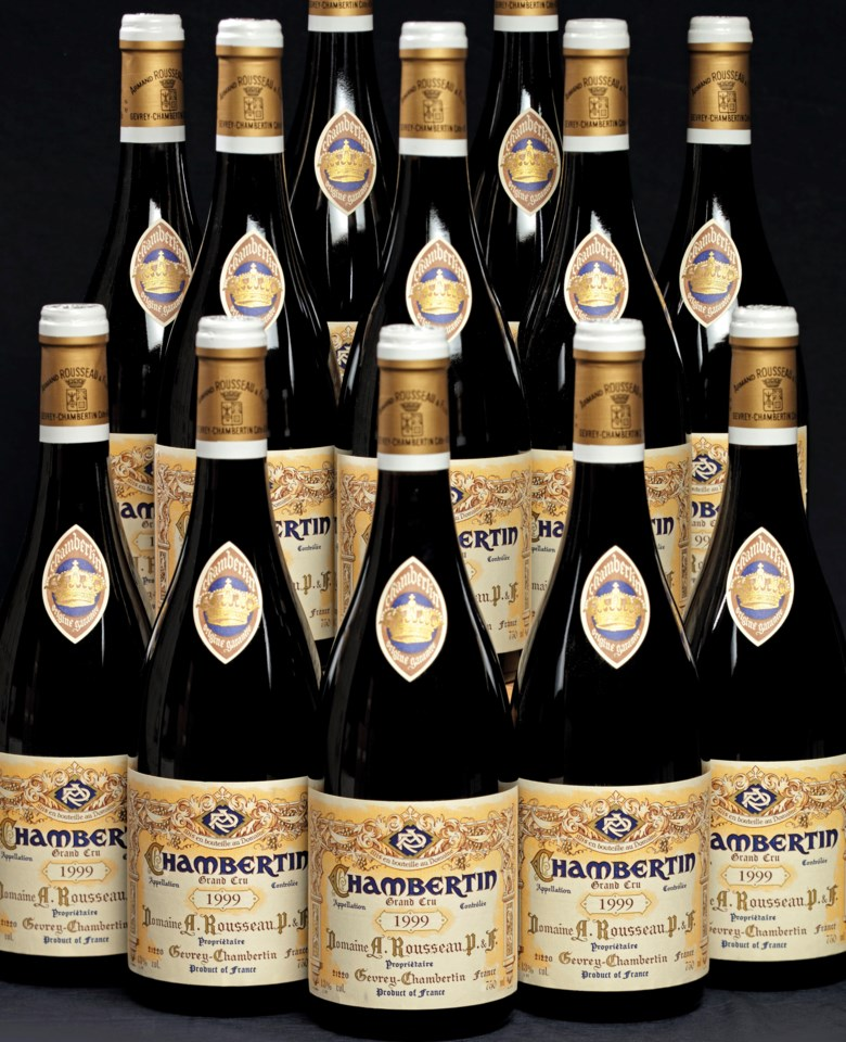 Armand Rousseau, Chambertin 1999, 12 bottles per lot. Sold for CHF 49,000 on 14 May 2019 at Christie's in Geneva