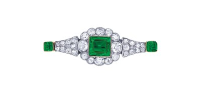 EARLY 20TH CENTURY EMERALD AND