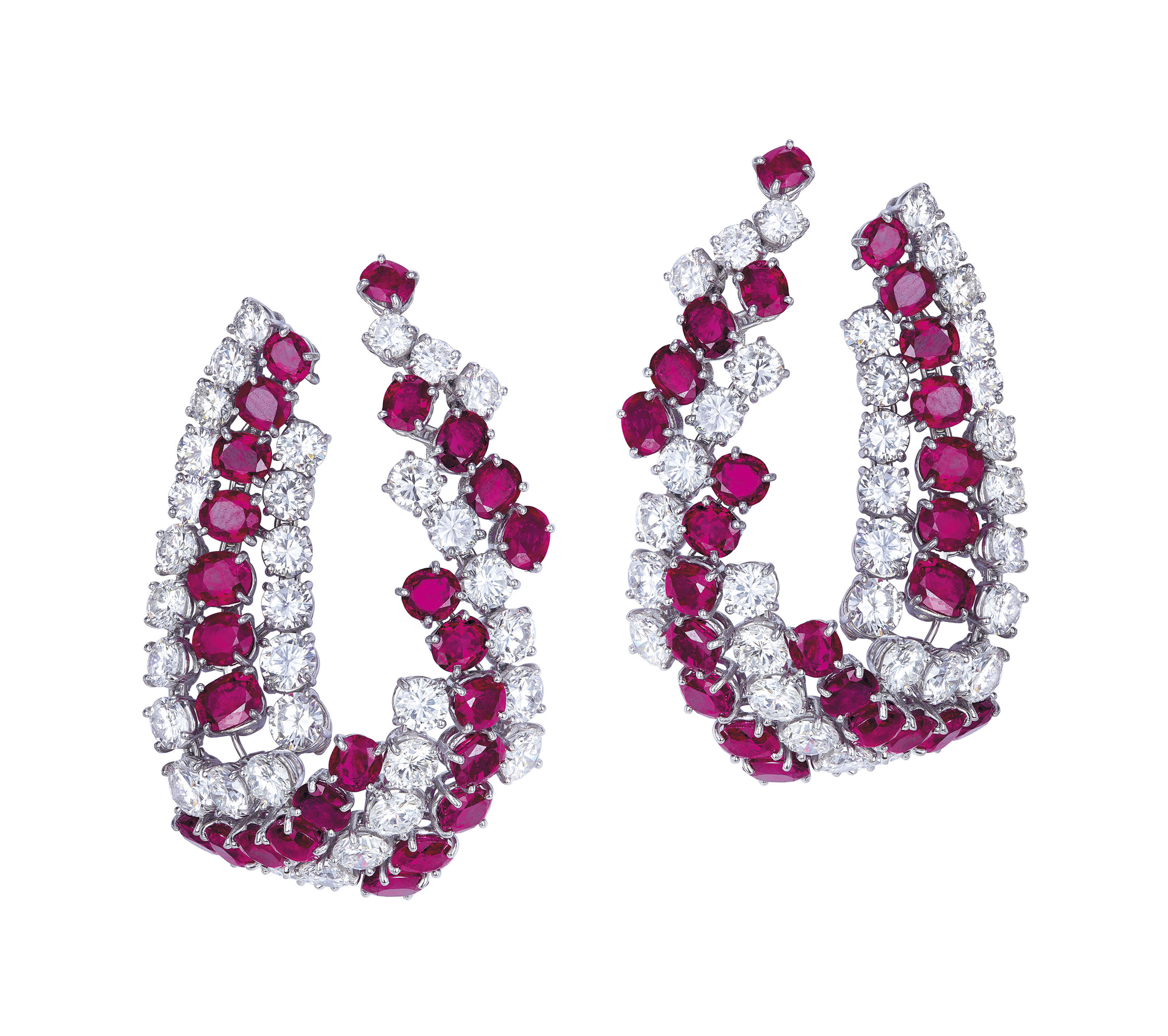 RUBY AND DIAMOND EARRINGS, HAR