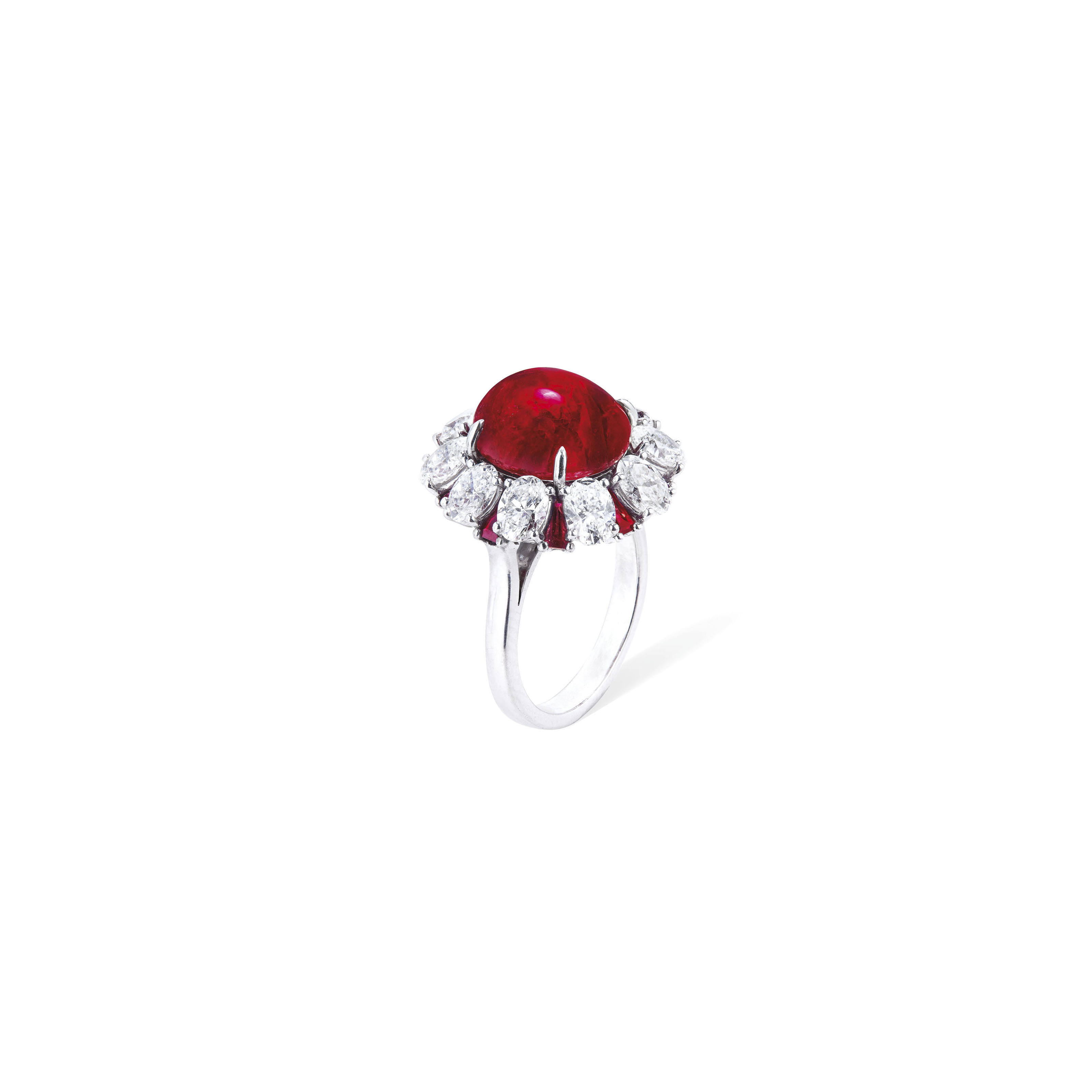 RUBY AND DIAMOND RING, HARRY W