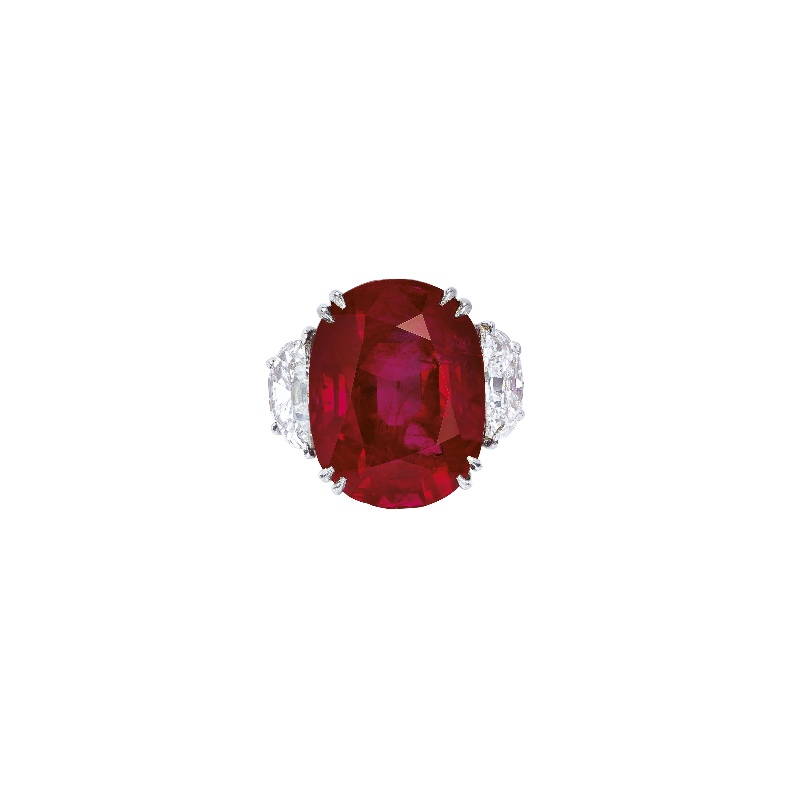 EXCEPTIONAL RUBY AND DIAMOND RING, HARRY WINSTON