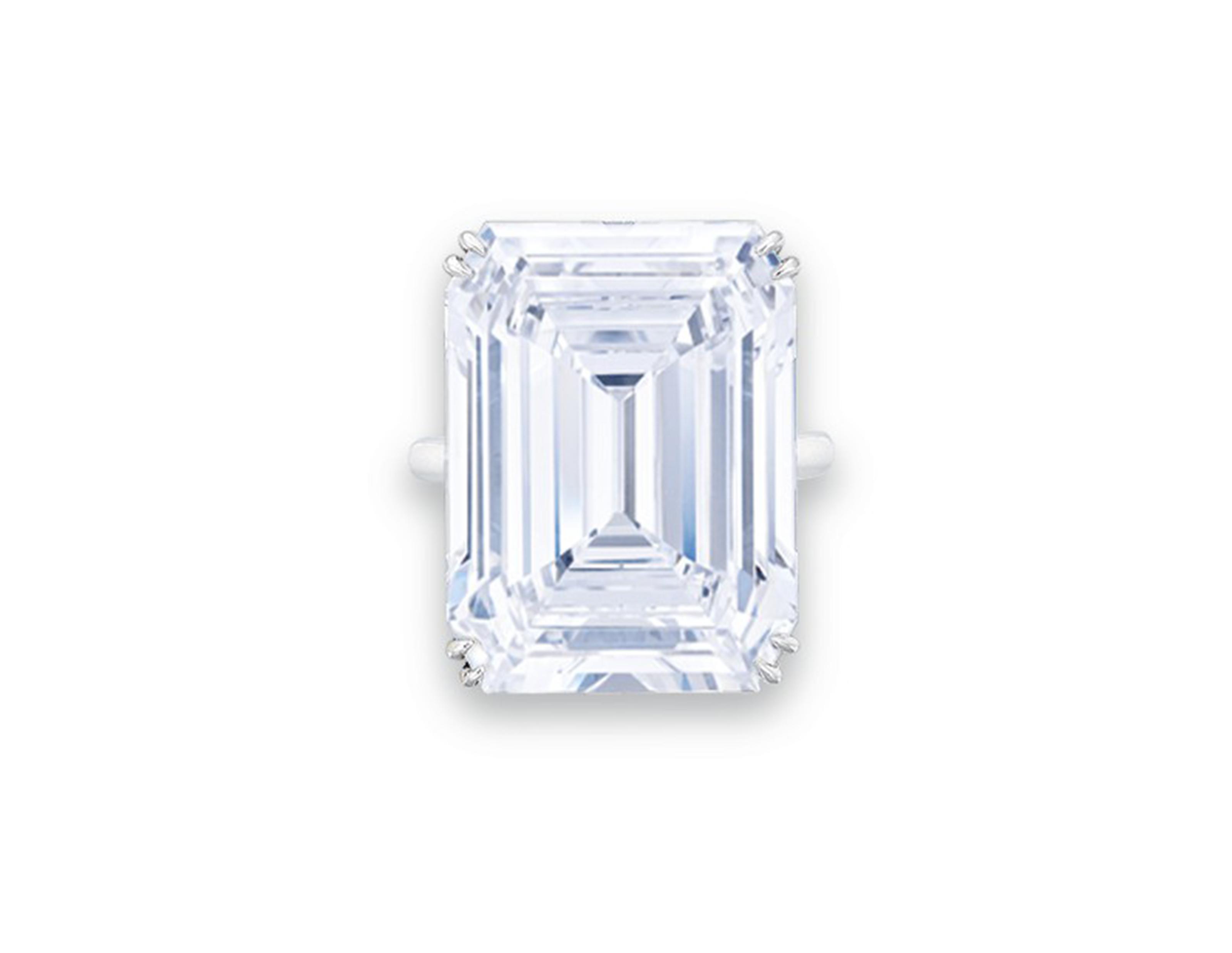 THE JONKER V  IMPORTANT DIAMOND RING, HARRY WINSTON