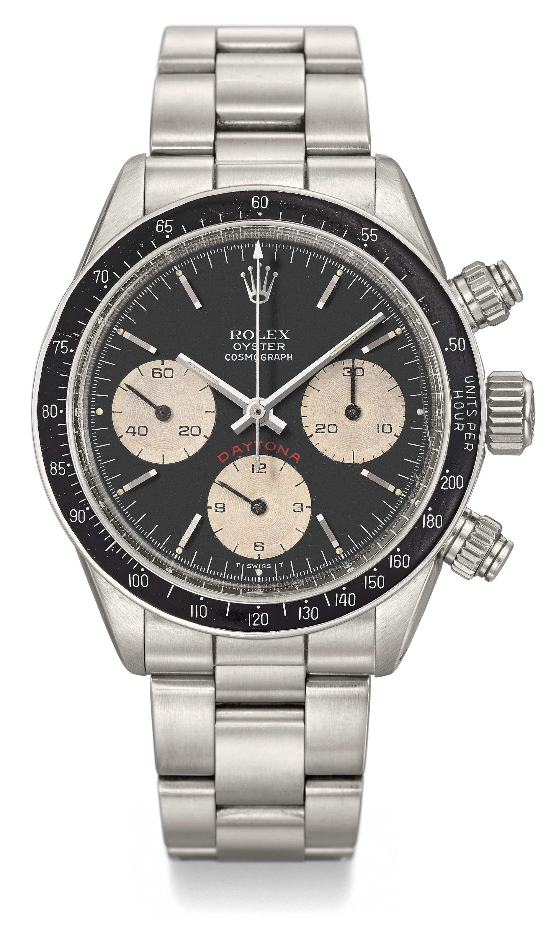 ROLEX. A VERY RARE AND ATTRACTIVE STAINLESS STEEL CHRONOGRAPH WRISTWATCH...