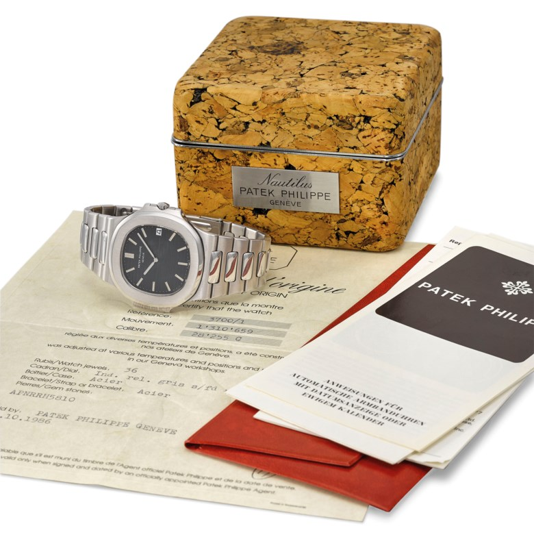 Patek Philippe. A fine and very rare stainless steel automatic wristwatch with date and bracelet, certificate of origin and cork box, signed Patek Philippe, ref. 37001, movement no. 1310659, case no. 538561, manufactured in 1982. Estimate CHF 80,000-120,000. Offered in Rare Watches on 11 November 2019 at Christie's in Geneva
