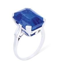 SAPPHIRE AND DIAMOND RING, BOU