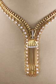 DIAMOND 'ZIP' NECKLACE, VAN CL