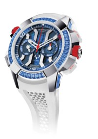"JACOB & CO JACOB & CO. EPIC X CHRONO MESSI ""ONLY WATCH"" SPECIAL EDITION  This unique piece enhances the limited edition Messi with baguette-cut blue sapphires. Also included is a meet and greet for two people with Lionel Messi."