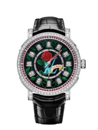 "LOUIS VUITTON ESCALE SPIN TIME - ONLY WATCH 2019  For the 2019 edition, Louis Vuitton presents a bold and unique piece: the ""Escale Spin Time"" watch. A timepiece featuring outstanding creativity and know-how, with a dial inspired by tattoo art."