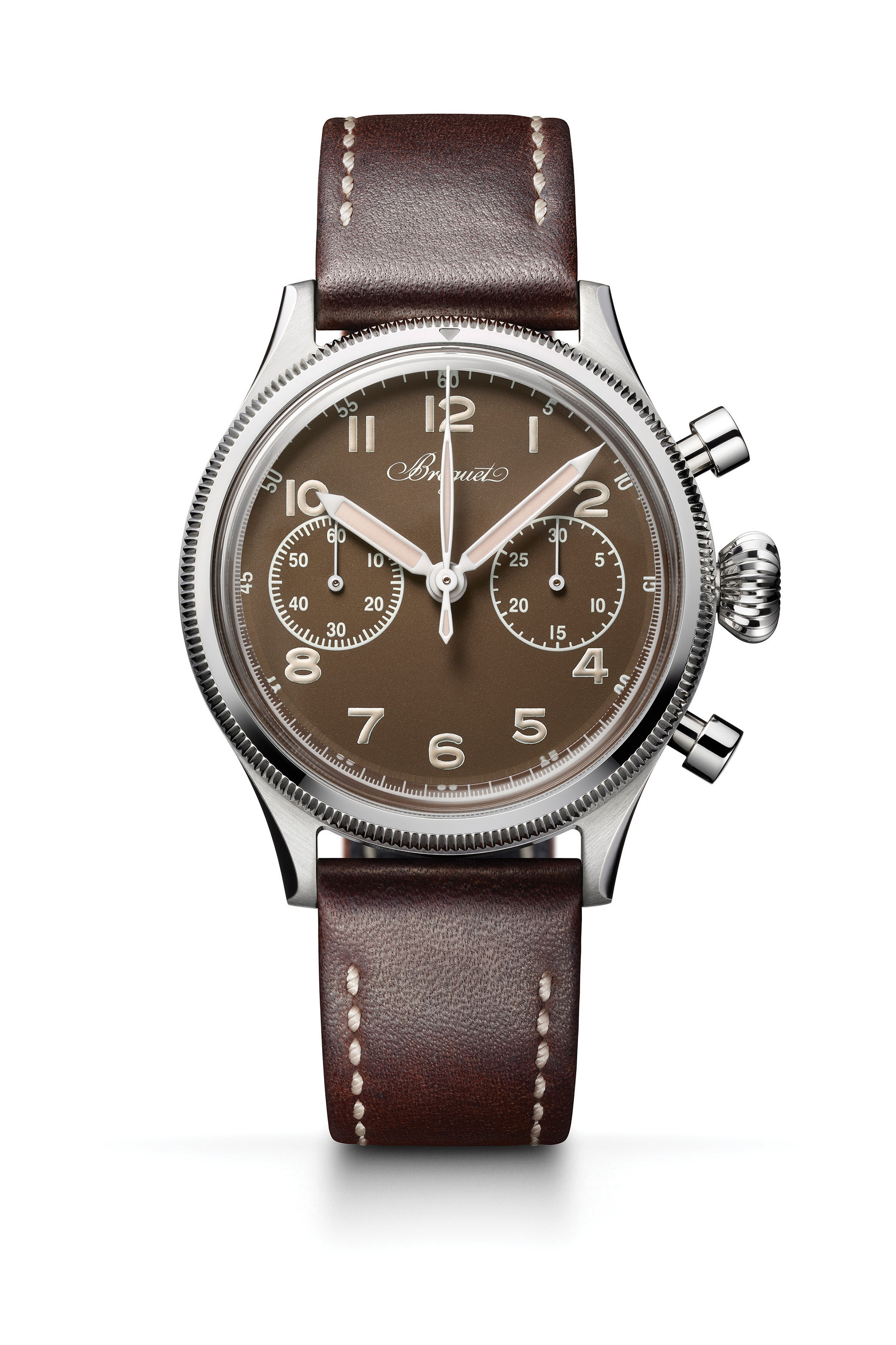 BREGUET BREGUET TYPE 20 ONLY WATCH 2019  In homage to both watchmaking and aviation, Breguet reissues a unique version of its Type 20 pilot chronograph from the fifties in a form that is very faithful to the original.