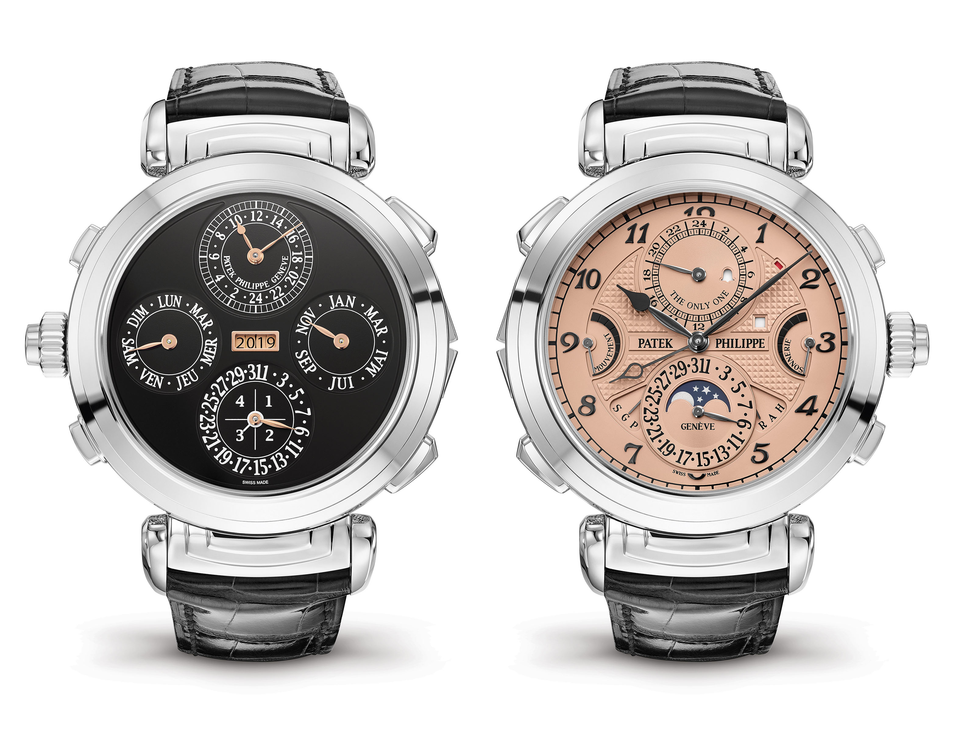 PATEK PHILIPPE PATEK PHILIPPE GRANDMASTER CHIME  The Grandmaster Chime reference 6300A-010 was created specially for Only Watch 2019. It stands out as the first and only version of this timepiece ever produced in stainless steel.