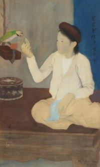 Jeune fille au Perroquet (Young Girl with Parrot)
