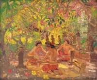 Balinese Girls Weaving