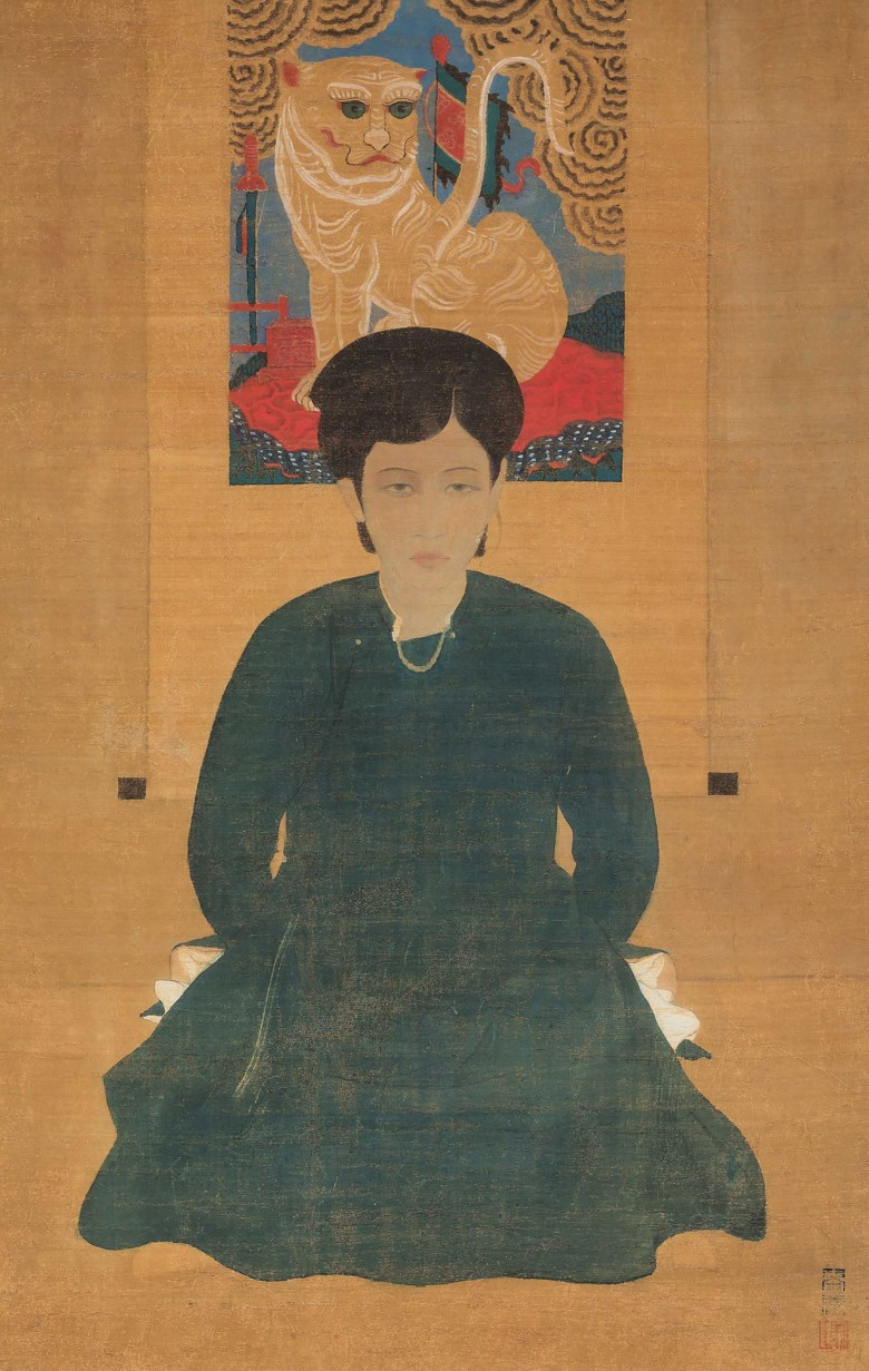 Le Pho (1907-2001), Femme assise (Sitting Lady). Ink and gouache on silk. 73.5 x 47 cm (28⅞ x 18½  in). Estimate HK$1,200,000-1,800,000. Offered in 20th Century & Contemporary Art Morning Session on 24 November 2019 at Christie's in Hong Kong