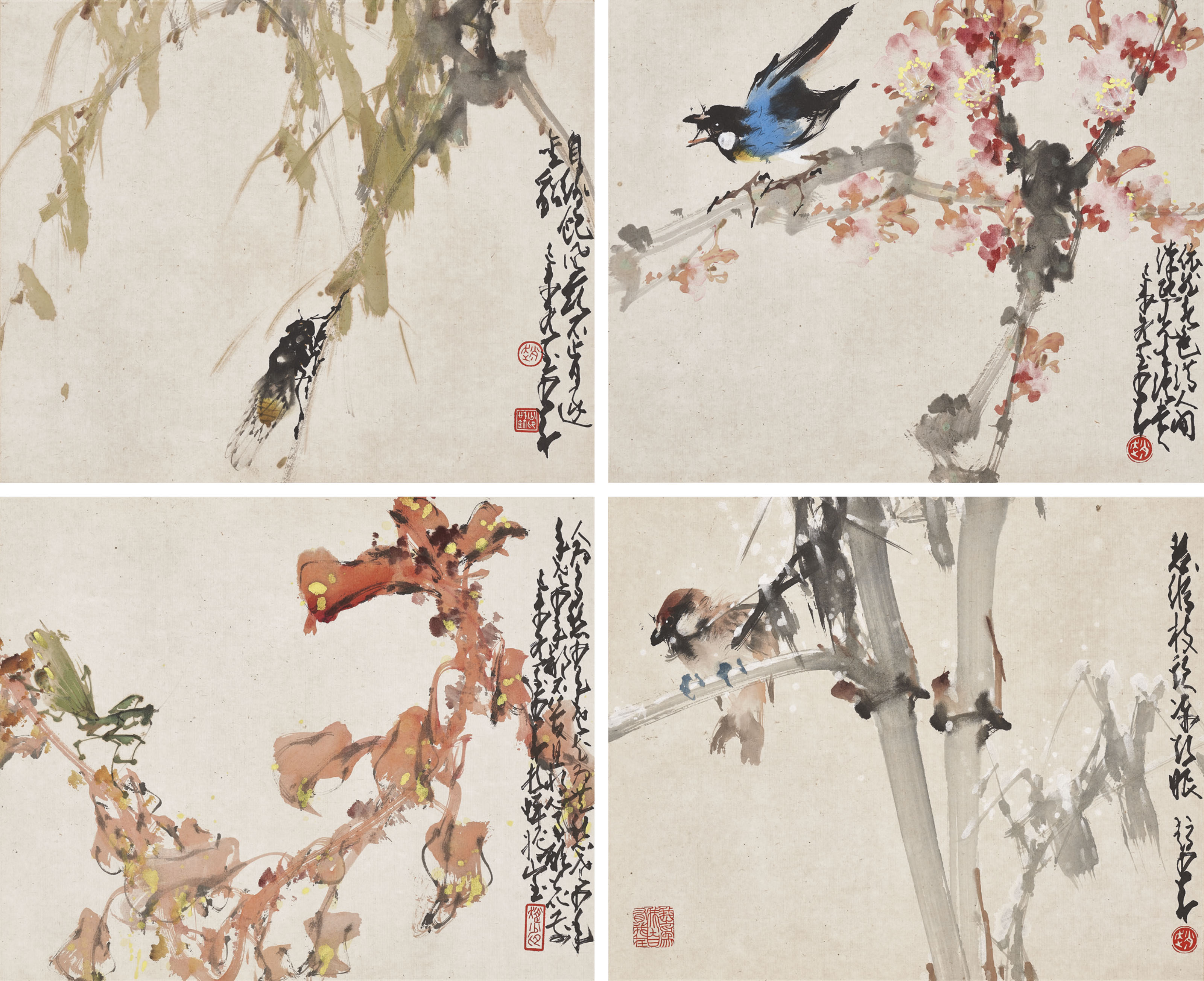 ZHAO SHAO'ANG (1905-1998) | Nature in Four Seasons | 20th