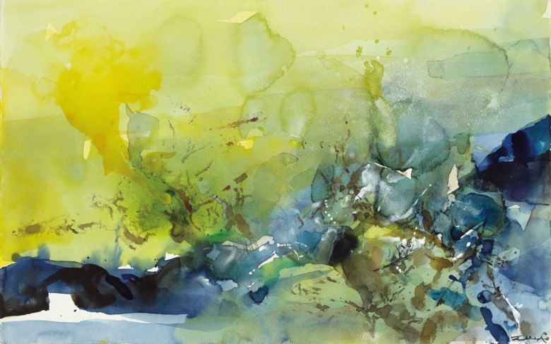 Zao Wou-Ki (Zhao Wuji, FranceChina, 1920-2013), Untitled, 1994. Sold for HK$3,000,000 on 29 March 2019 at Christie's in Hong Kong