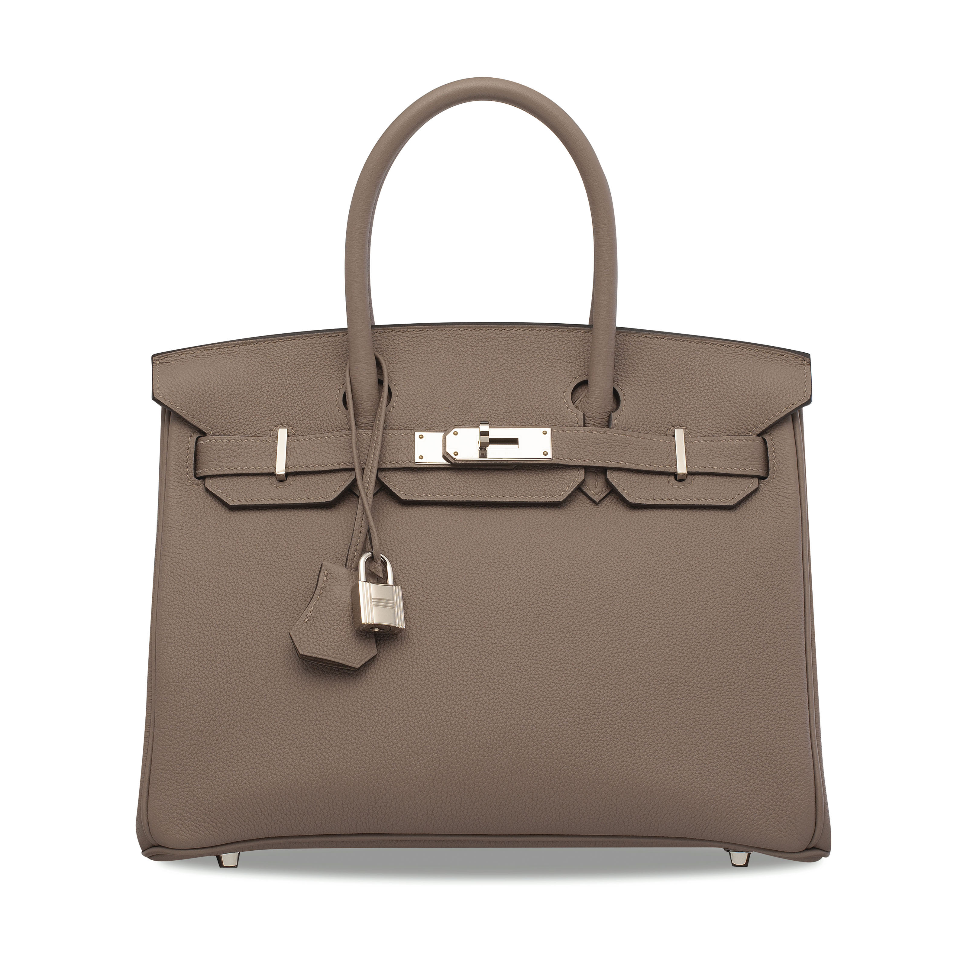 A GRIS ASPHALTE EVERCOLOR LEATHER BIRKIN 30 WITH PALLADIUM HARDWARE