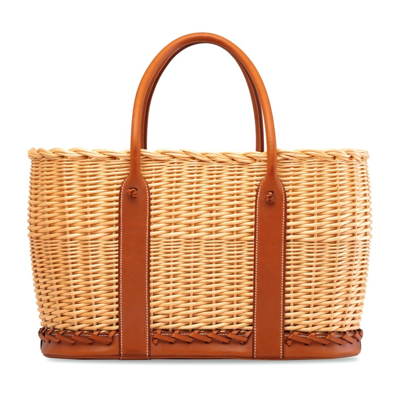 A limited edition naturel barénia & osier picnic garden party, Hermès, 2016. 38 w x 23 h x 20 d cm. Sold for HK$106,250 on 29 May 2019 at Christie's in Hong Kong