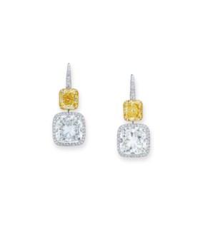DIAMOND AND COLOURED DIAMOND EARRINGS