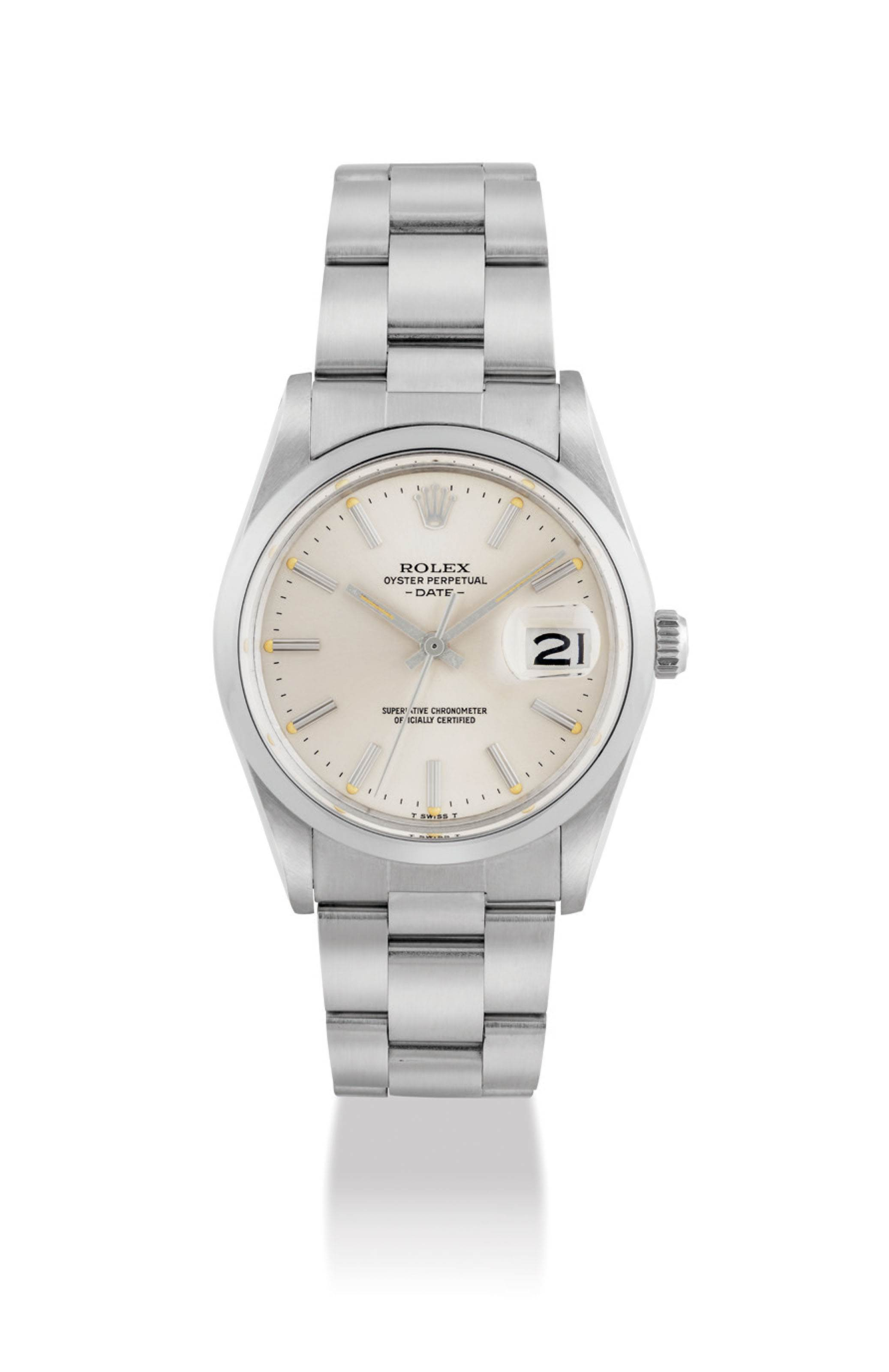 ROLEX. A STAINLESS STEEL AUTOMATIC WRISTWATCH WITH SWEEP CENTRE SECONDS...