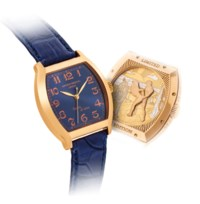 ANTOINE PREZIUSO. A FINE 18K PINK GOLD LIMITED EDITION TONNEAU-SHAPED WRISTWATCH WITH SWEEP CENTRE SECONDS AND CONCEALED EROTIC AUTOMATON