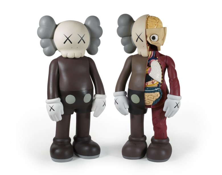 Kaws (B. 1974), COMPANION (Brown). Aset of two fibre-reinforced plastic sculptures with the original box. Each 125 (H) x 50 x 33  cm (49¼ x 19⅝ x 13  in) (2). Estimate HK$700,000-900,000. This lot is offered in ICONOCLAST on 25 May 2019 at Christie's in Hong Kong. Artwork © KAWS