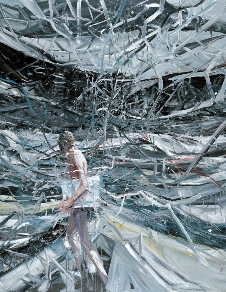 Jia Aili (b. 1979), The Wasteland, 2007. Oil on canvas. 267 x 200  cm (105⅛ x 78¾  in). Sold for HK$18,125,000 on 25 May 2019 at Christie's in Hong Kong