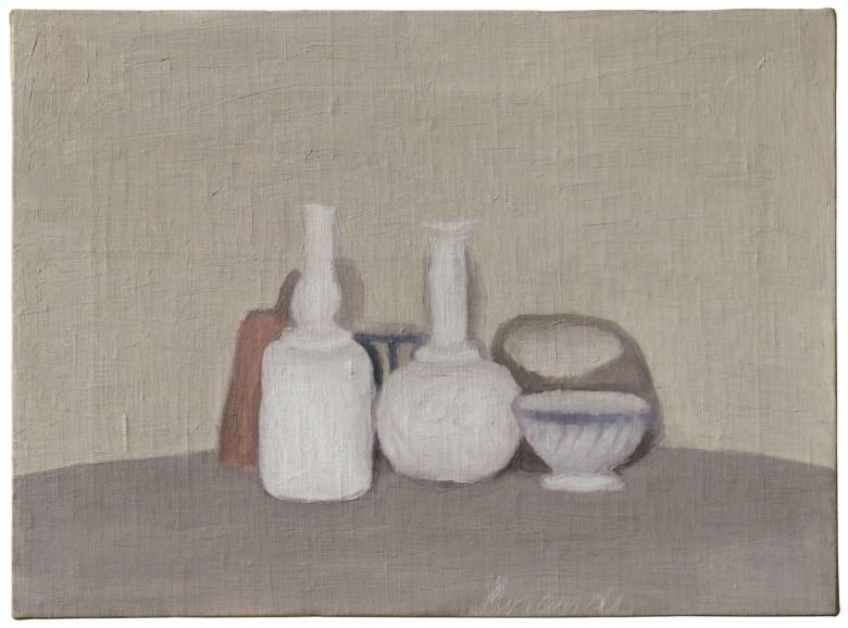 Giorgio Morandi (1890-1964), Natura morta, 1947. 34 x 46 cm. Oil on canvas. Estimate €500,000-700,000. Offered in Thinking Italian Milan on 3-4 April 2019 at Christie's in Milan