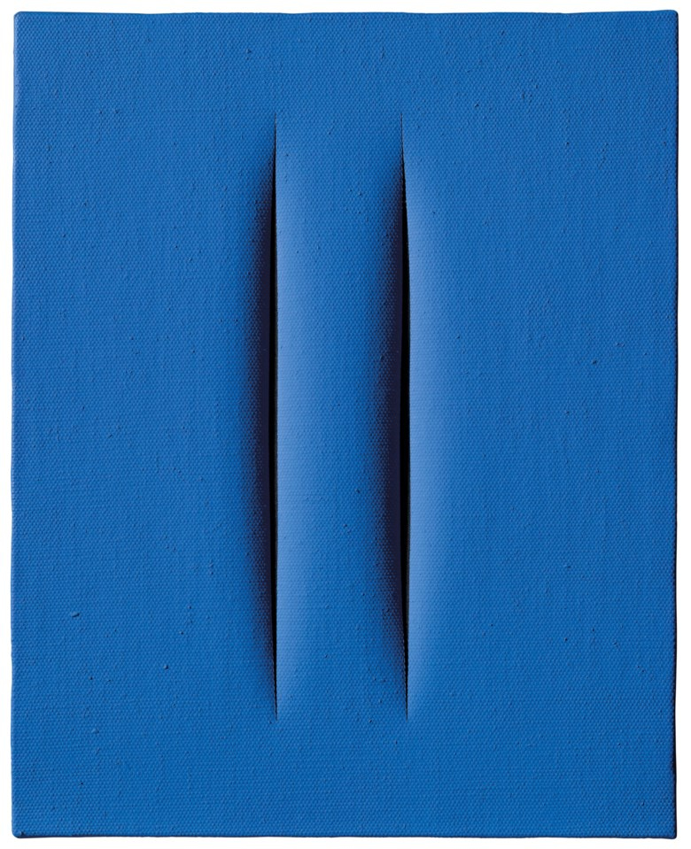 Lucio Fontana (1899-1968), Concetto Spaziale, Attese, 1967. Waterpaint ion canvas. 41.7 x 33 cm. Estimate €350,000-500,000. Offered in Thinking Italian Milan on 3-4 April 2019 at Christie's in Milan