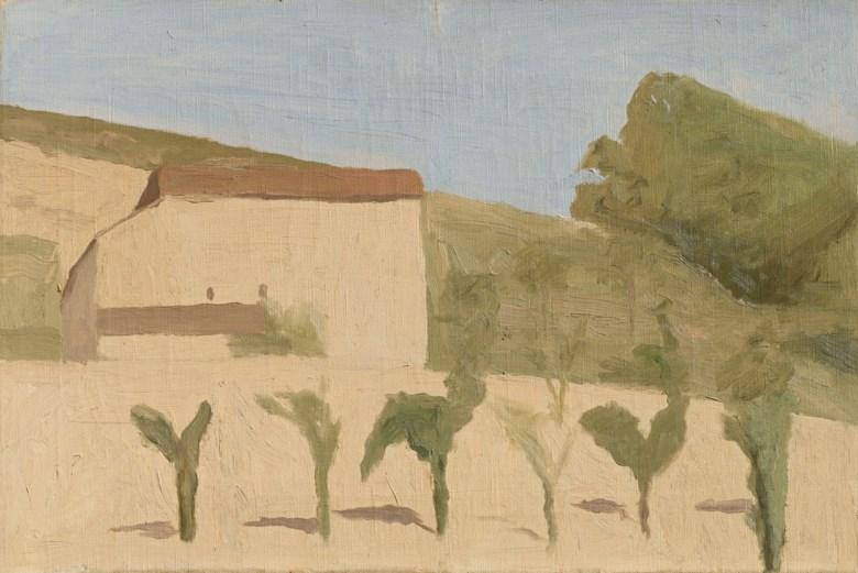 Giorgio Morandi (1890-1964), Paesaggio, 1943. Oil on canvas. 35.2 x 53.2 cm. Estimate €280,000-350,000. Offered in Thinking Italian Milan on 3-4 April 2019 at Christie's in Milan