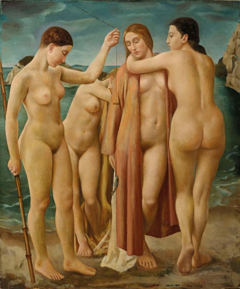 Ubaldo Oppi (1889-1946), Giovani donne al mare, 1924-26. Sold for €200,000 on 3-4 April 2019 at Christie's in Milan