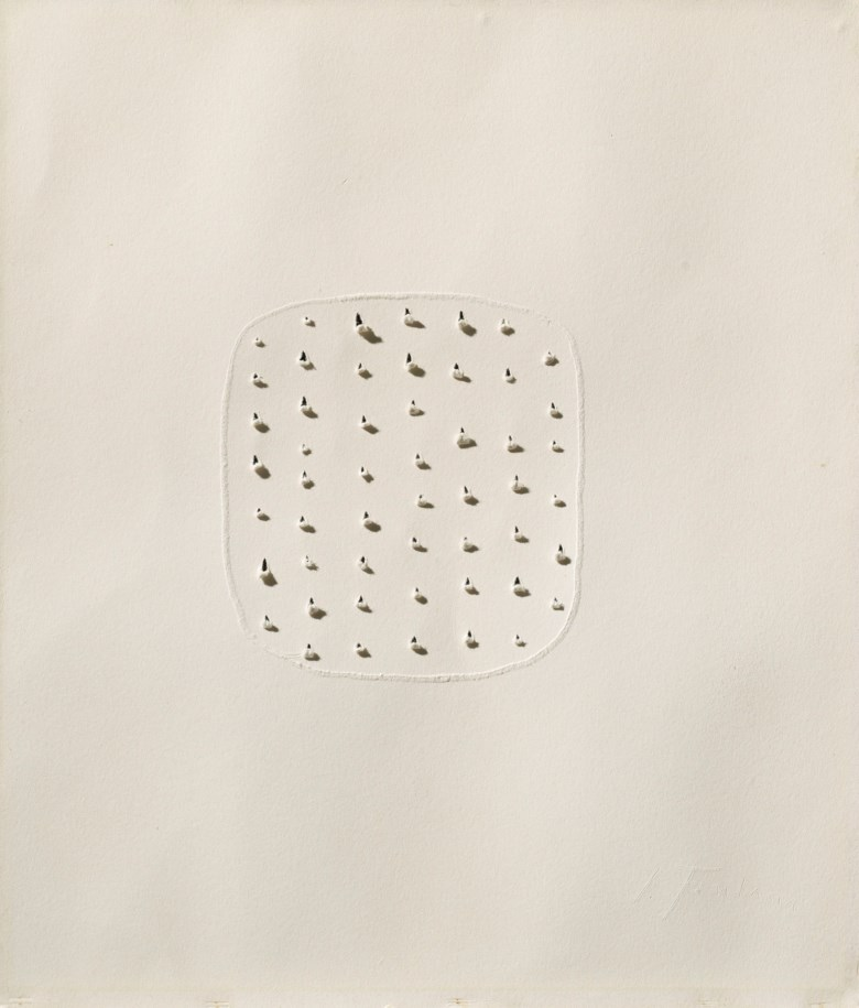 Lucio Fontana (1899-1968), Concetto spaziale, 1966-68. Blotting paper. 47 x 41 cm. Estimate €30,000-40,000. Offered in Thinking Italian Milan on 3-4 April 2019 at Christie's in Milan