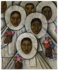 Untitled (Tehuanas in Traditional Huipil Grande Headdresses)