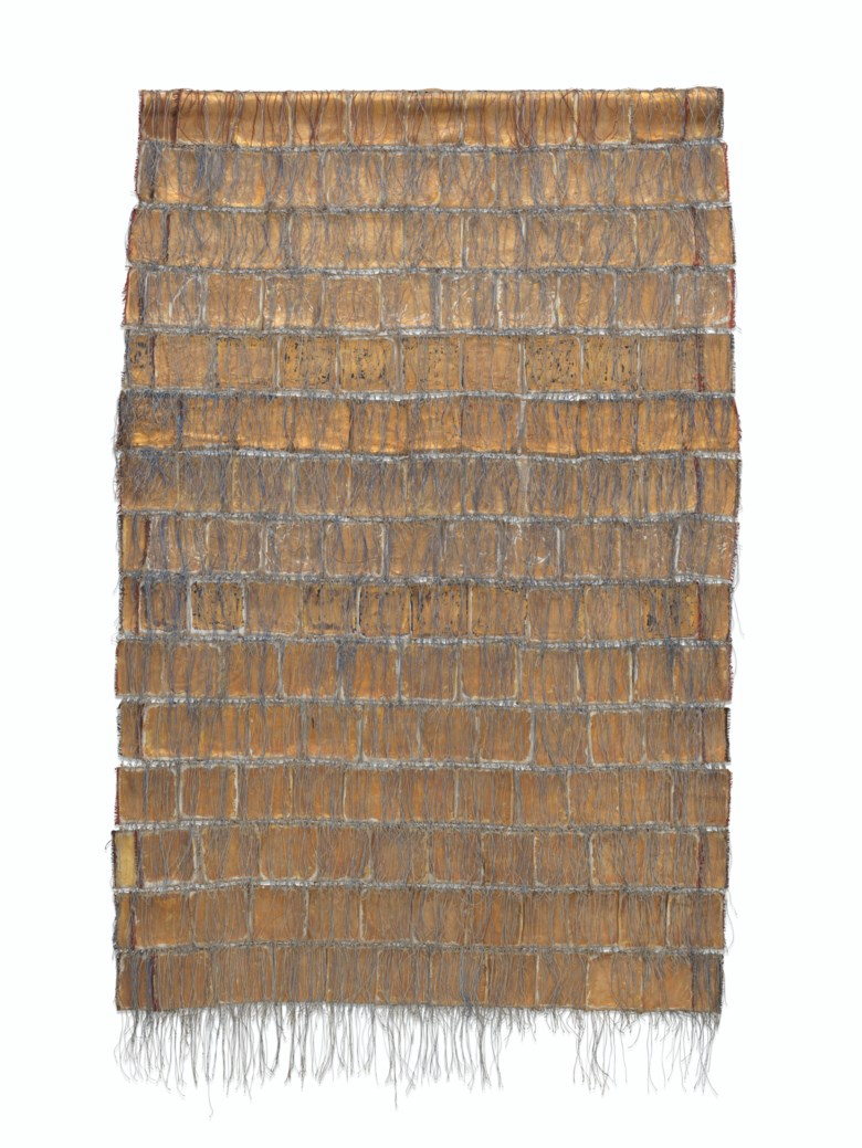 Olga De Amaral (b. 1932), Alquimia XII, executed in 1983. 55 x 37¾ in (139.7 x 95.9 cm). Estimate $80,000-120,000. Offered in Latin American Art on 22-23 May 2019 at Christie's in New York