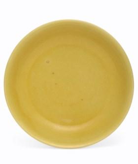 A YELLOW-GLAZED DISH