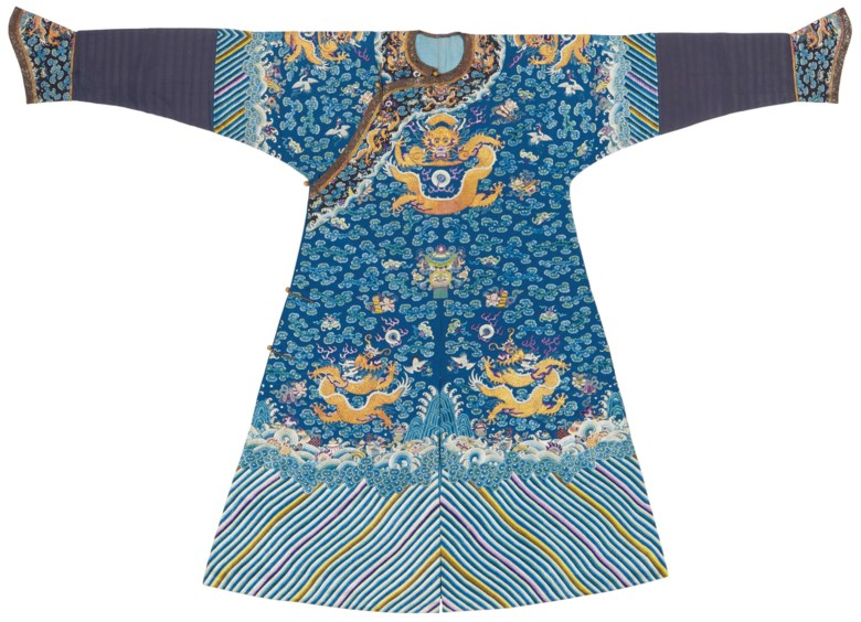 A magnificent and rare imperial embroidered blue-ground dragon robe 64d6ad646