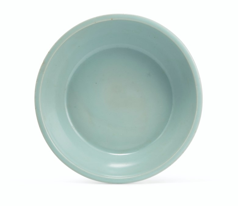 A superb 'kinuta' Longquan celadon washer, Southern Song dynasty (1127-1279). 5⅝ in (14.3 cm)  diameter. Sold for $495,000 on 22 March 2019 at Christie's in New York