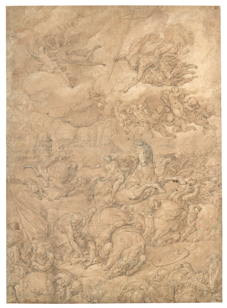 Niccolò dell'Abate (Modena 1509 or 1512-1571 Fontainebleau), The Conversion of Saul. 21 x 15¼  in (53.5 x 38.7 cm). Estimate $100,000-150,000. This lot is offered in Old Master & British Drawings on 31 January 2019 at Christie's in New York