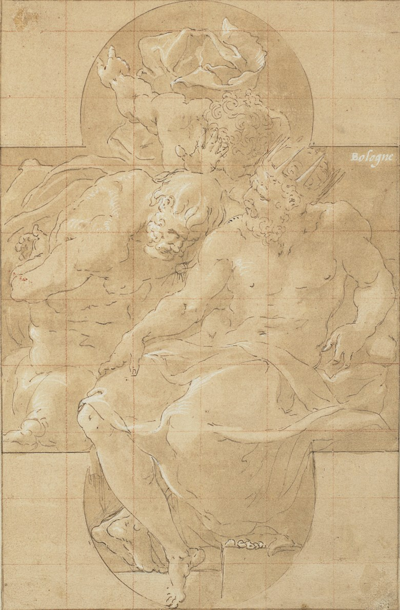 Francesco Primaticcio (1504-1570), Polymestor killing Polydorus (or King Priam and Sinon). 10 x 6½  in (25.3 x 16.4 cm). Estimate $100,000-150,000. Offered in Old Master & British Drawings on 31 January 2019 at Christie's in New York