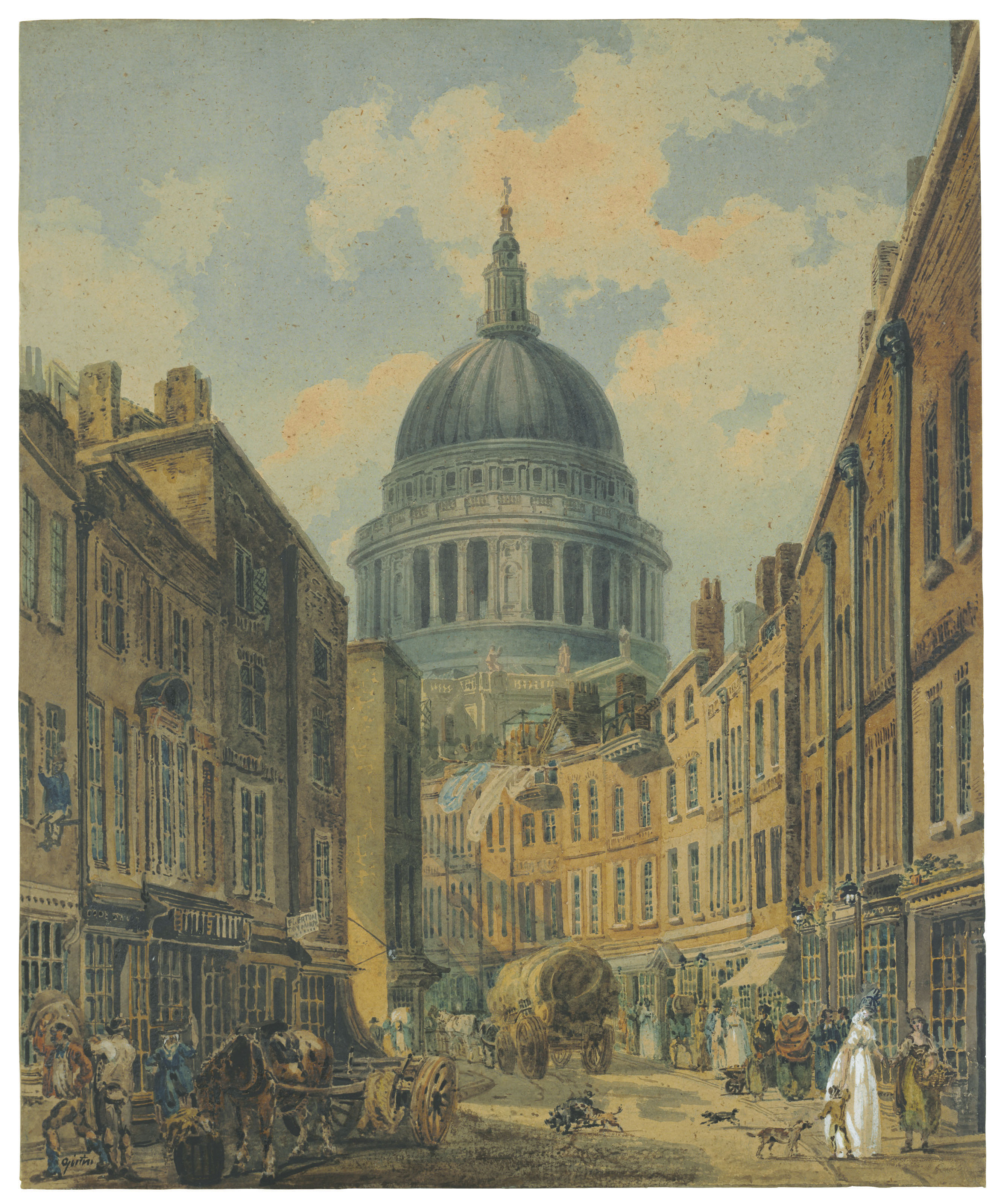St. Paul's Cathedral from St. Martin's-le-Grand, London
