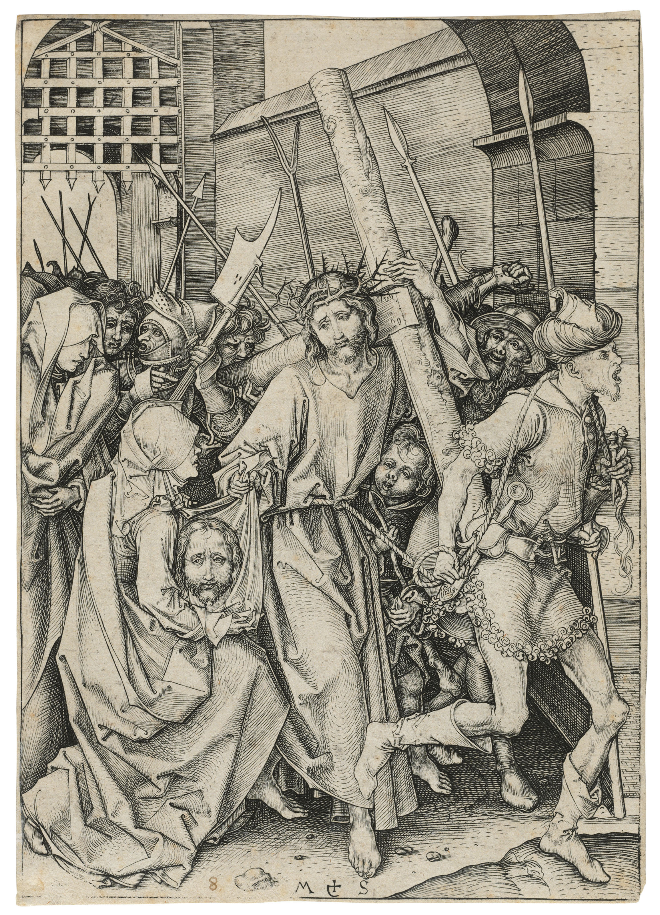 Christ carrying the Cross, from: The Passion