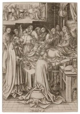 ISRAHEL VAN MECKENEM (1440-1503) AFTER HANS HOLBEIN THE ELDE