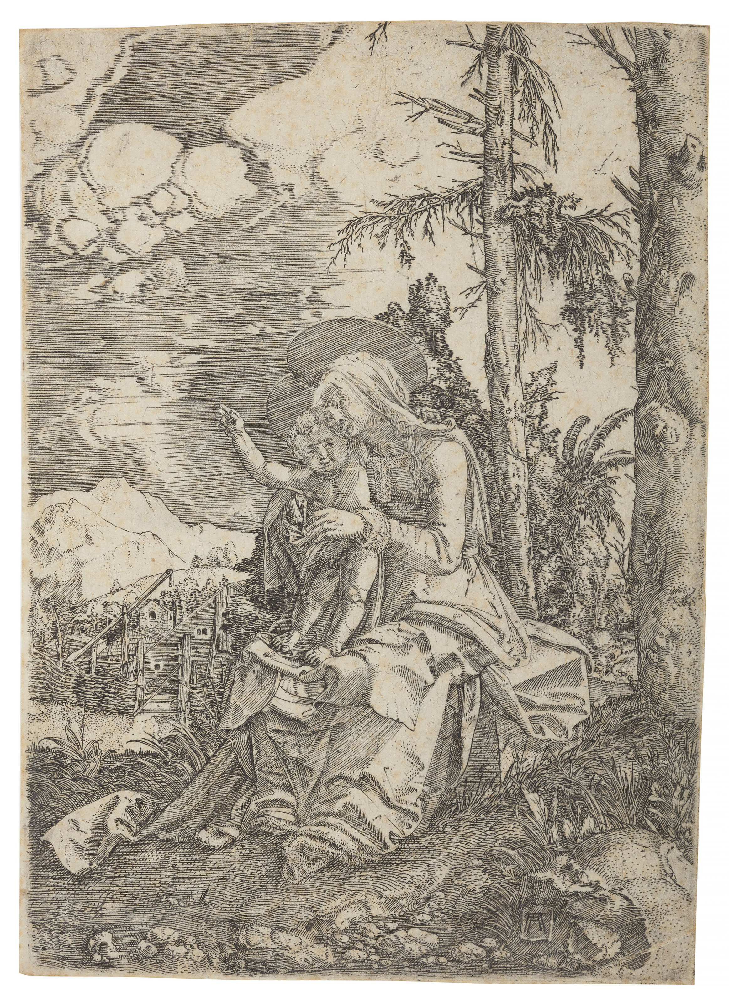 The Virgin with the blessing Child in a Landscape