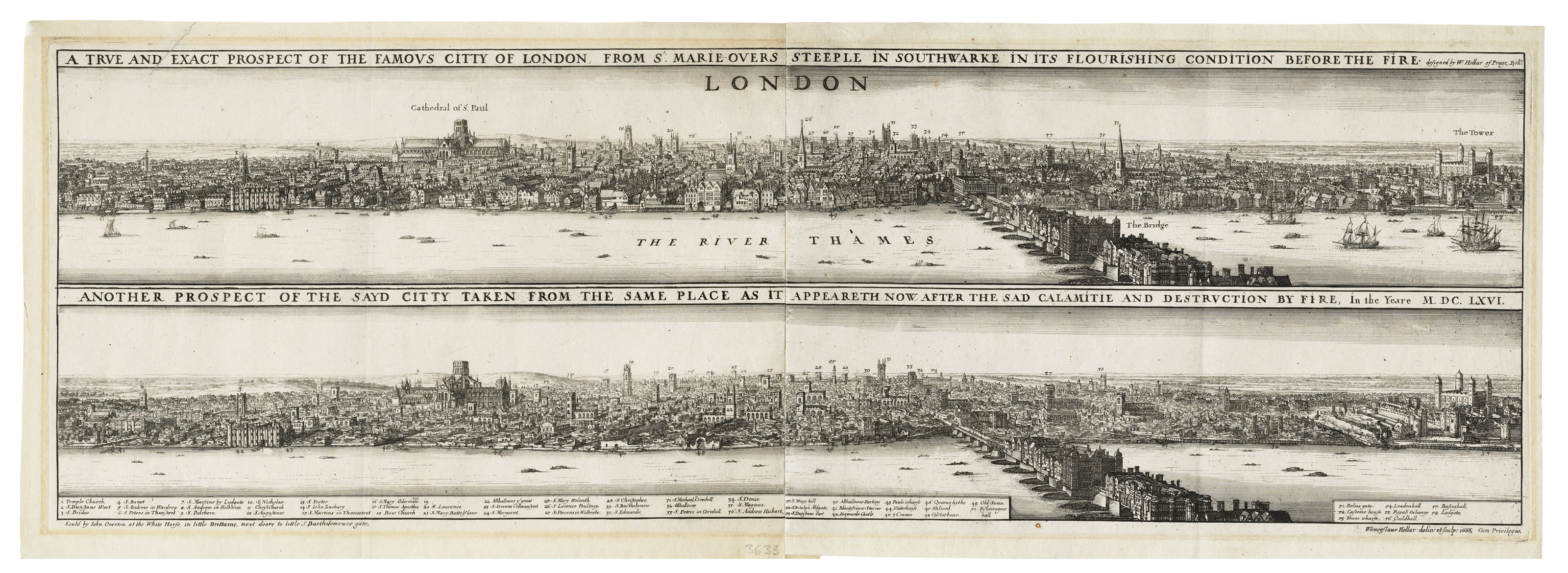 Prospects of London before and after the Great Fire
