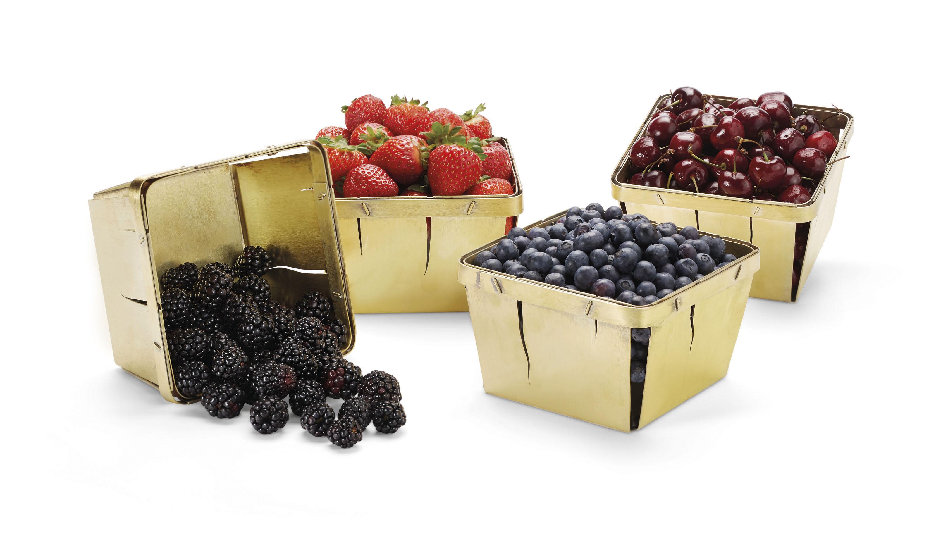 A SET OF FOUR SILVER-GILT 'STRAWBERRY BOXES'