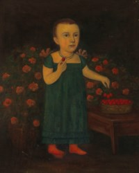Standing Child with Strawberries