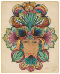 Untitled (Woman with Floral Designs), 1948